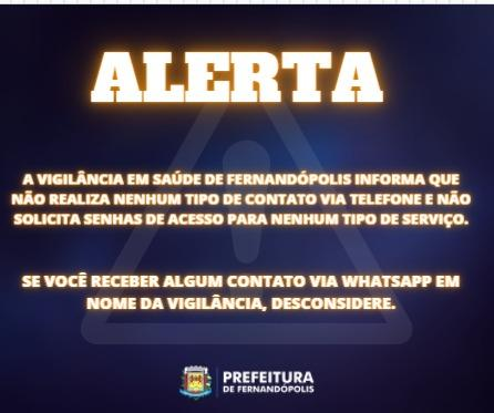 Prefeitura faz alerta sobre golpe utilizando a Vigilância em Saúde