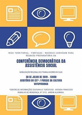 Votuporanga sedia reunião preparatória da Conferência Regional Democrática da Assistência Social