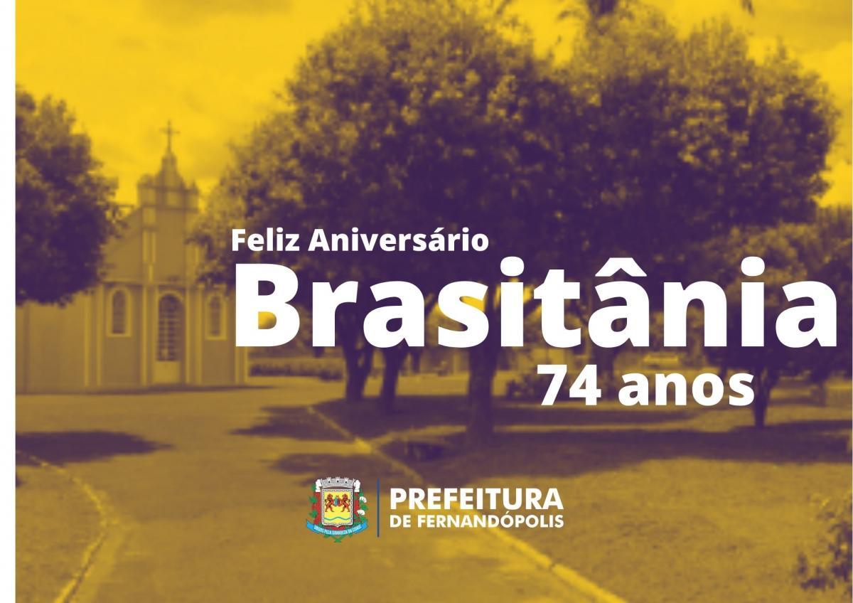Brasitânia comemora 74 anos nesta quinta-feira