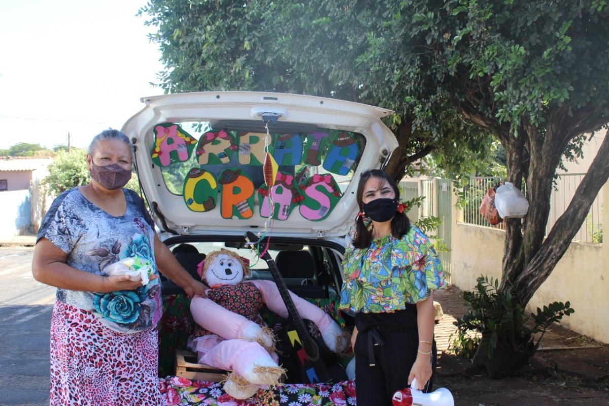 CRAS Recanto dos Oitis 'leva Arraiá' delivery às famílias