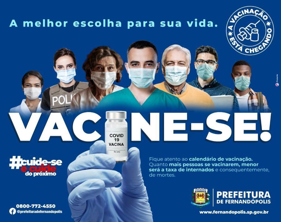 Vacinação contra a Covid-19 avança em Fernandópolis