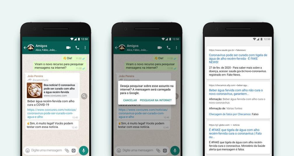 WhatsApp ganha recurso de pesquisa para que usuários possam checar mensagens encaminhadas