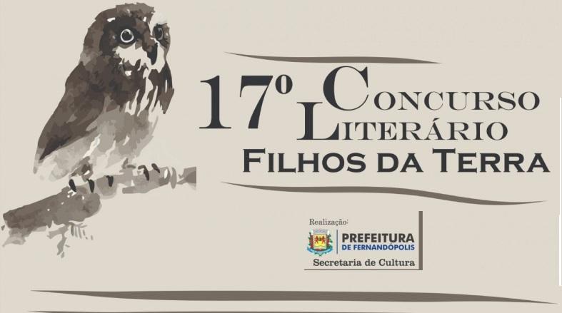 Livro do '17ª Concurso Literário Filhos da Terra' chega na próxima semana