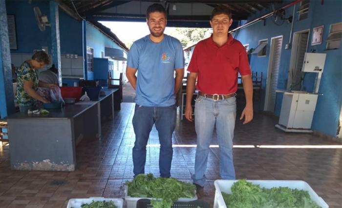 Curso de Agronomia da UNIFEV destina hortaliças para entidades