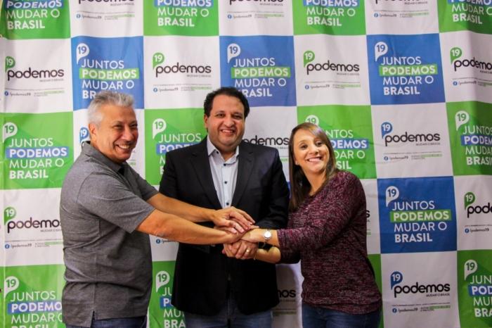 Empresário Luiz Henrique Moreira é recebido pela Deputada Federal Renata Abreu do Podemos