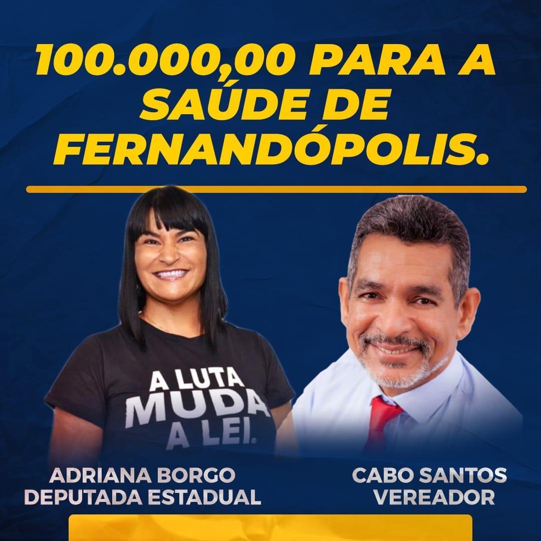 Cabo Santos conquista recurso de R$ 100 mil para a Saúde